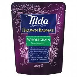 Tilda Steamed Basmati Rice - Brown
