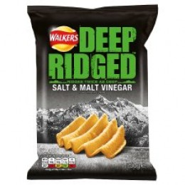 Walkers Deep Ridged Salt & Malt Vinegar Crisps