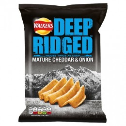 Walkers Deep Ridged Mature Cheddar & Onion Crisps